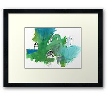 green with collection Framed Print