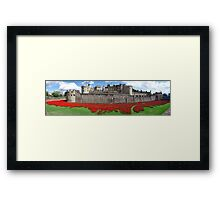 The Tower of London Remembers WWI Panorama Framed Print
