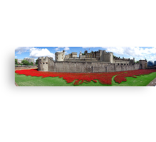The Tower of London Remembers WWI Panorama Canvas Print