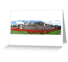 The Tower of London Remembers WWI Panorama Greeting Card