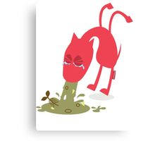 Sick dog Canvas Print