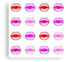 bright lips print Canvas Print