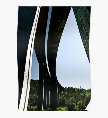 Motorway bridge over the Rio Ulla, Galicia, Spain Poster