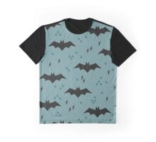 The pattern with bats. Children's ornament with superheroes Graphic T-Shirt
