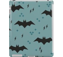 The pattern with bats. Children's ornament with superheroes iPad Case/Skin