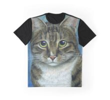 Brown Tabby Cat, acrylic painting Graphic T-Shirt