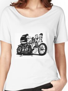 3 Bikers with Chopper Women's Relaxed Fit T-Shirt
