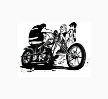 3 Bikers with Chopper Unisex T-Shirt