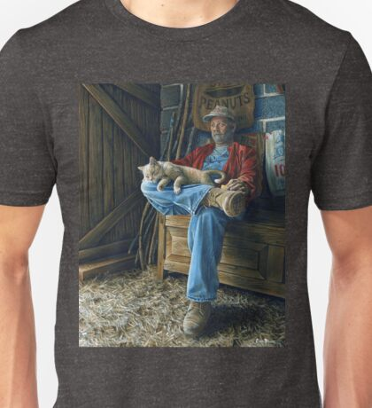 Farmer and his Cat, painting Unisex T-Shirt