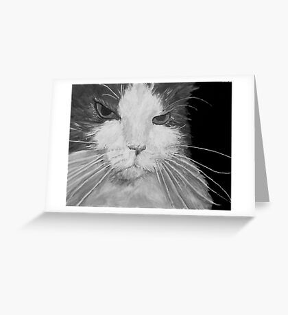 Angry Cat  Greeting Card