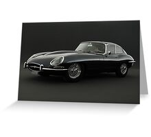 Jaguar XK-E Greeting Card