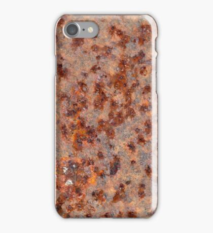Macro photo of a rusty iron sheet. iPhone Case/Skin