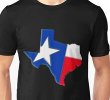 Texas Map with Texas State Flag Unisex T-Shirt