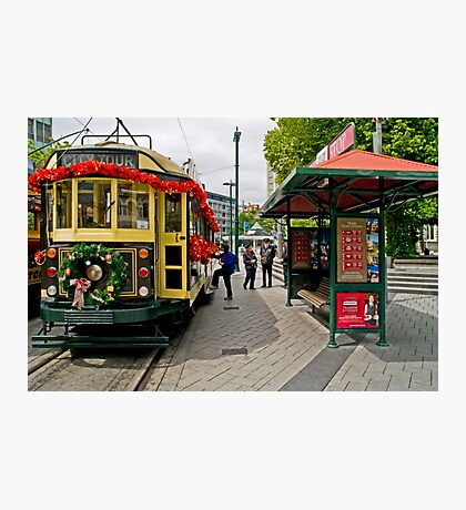 Christmas Tram - Christchurch New Zealand Photographic Print
