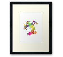Watercolour Mickey Framed Print