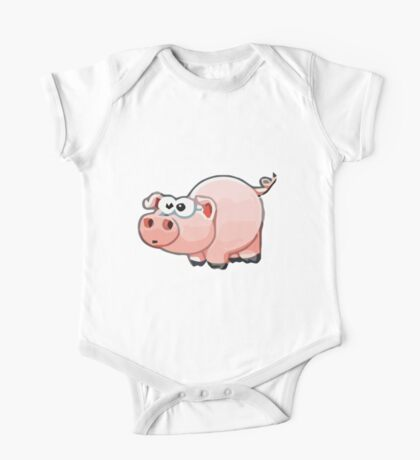 Baby Pig One Piece - Short Sleeve