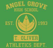 Angel Grove H.S. (Green Ranger Edition) Kids Tee