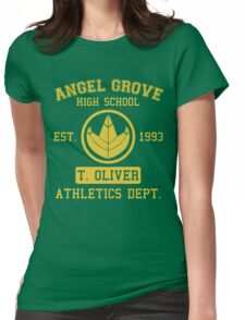 Angel Grove H.S. (Green Ranger Edition) Womens Fitted T-Shirt