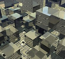 Brown Cubes On Motherboard  by Phil Perkins