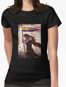 Commander of the Rainbow Womens Fitted T-Shirt