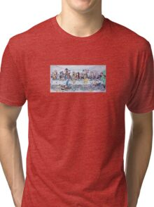 The last supper, with bikers Tri-blend T-Shirt