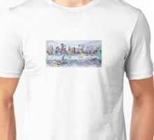 The last supper, with bikers Unisex T-Shirt
