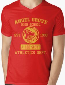 Angel Grove H.S. (Red Ranger Edition) Mens V-Neck T-Shirt