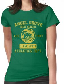 Angel Grove H.S. (Red Ranger Edition) Womens Fitted T-Shirt