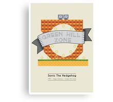 Sonic The Hedgehog - Green Hill Zone Canvas Print
