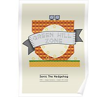 Sonic The Hedgehog - Green Hill Zone Poster
