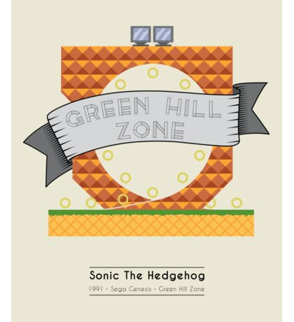 Sonic The Hedgehog - Green Hill Zone Sticker