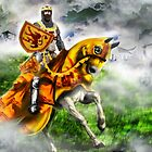 King Robert the Bruce at Bannockburn, Stirling in Scotland 1314AD [Historical Figure Drawing] by Grant Wilson