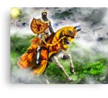 King Robert the Bruce at Bannockburn, Stirling in Scotland 1314AD [Historical Figure Drawing] Canvas Print