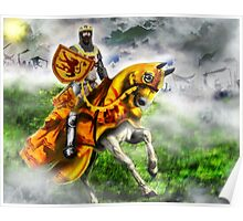 King Robert the Bruce at Bannockburn, Stirling in Scotland 1314AD [Historical Figure Drawing] Poster
