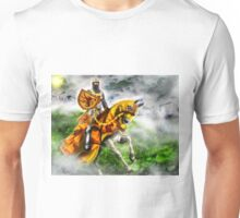 King Robert the Bruce at Bannockburn, Stirling in Scotland 1314AD [Historical Figure Drawing] Unisex T-Shirt