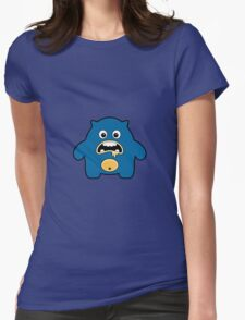 Seamless pattern with cute monsters. Womens Fitted T-Shirt