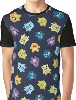 Seamless pattern with cute monsters. Graphic T-Shirt