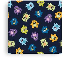 Seamless pattern with cute monsters. Canvas Print