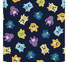 Seamless pattern with cute monsters. Photographic Print