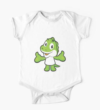 Baby Green Dinosaur One Piece - Short Sleeve