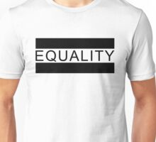 Gay Rights Equality Sign (Black) Unisex T-Shirt