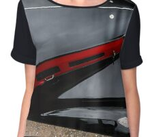 Beautiful retro car. Elegance and style of  first part of XX century. Details view. Chiffon Top