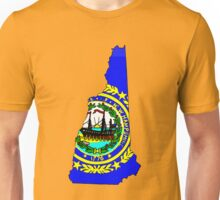 New Hampshire Map with State Flag Unisex T-Shirt