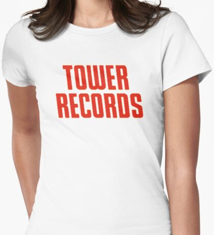 Tower Records Womens Fitted T-Shirt