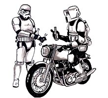 Stormtroopers with Norton Photographic Print