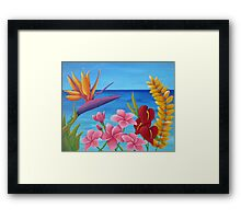 TROPICAL VIEW Framed Print
