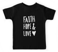 Faith Hope and Love x Navy Kids Tee