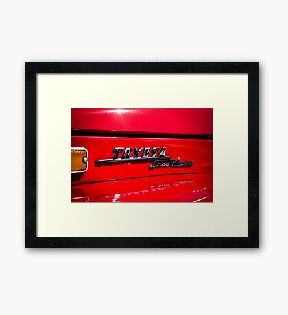 Toyota Land Cruiser emblem Framed Print