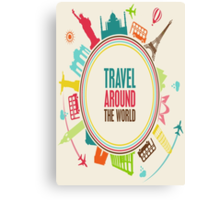 travel around the world Canvas Print