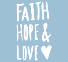 Faith Hope and Love x Rose Kids Tee
